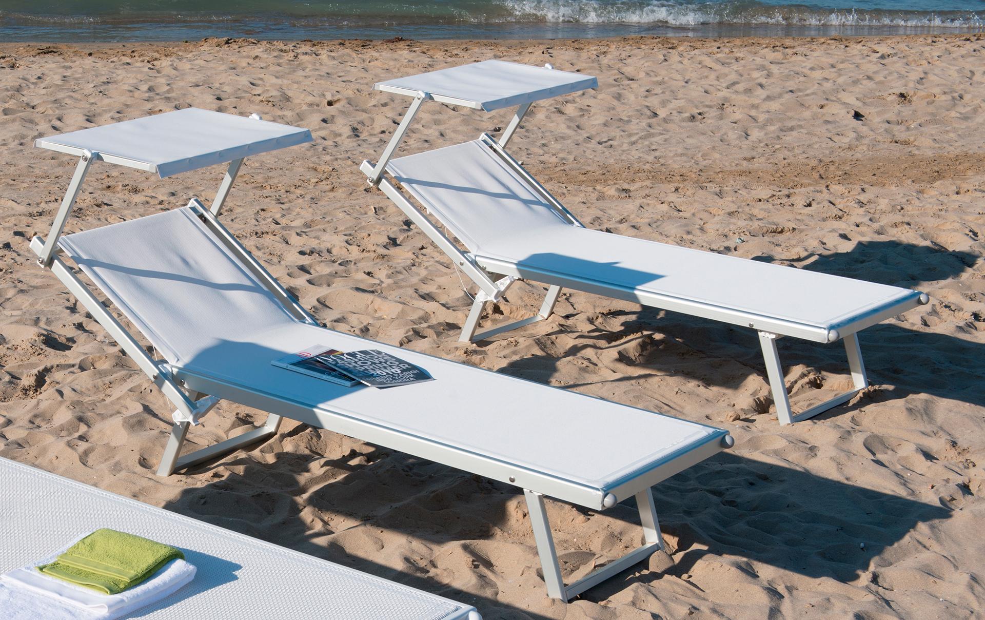 lettino spiaggia alluminio professional