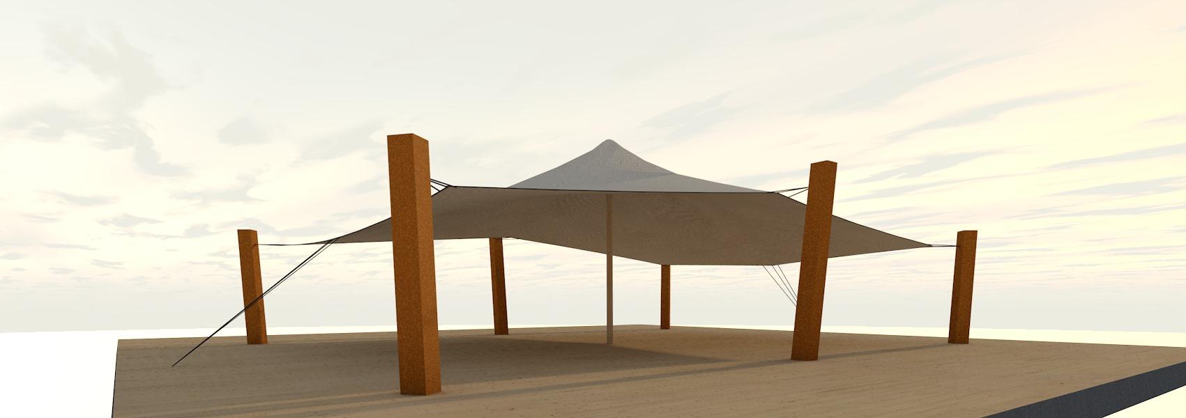 tenda rettangolare