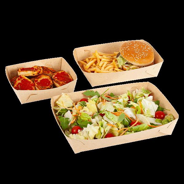 Vaschette per fritti in cartoncino biodegradabile