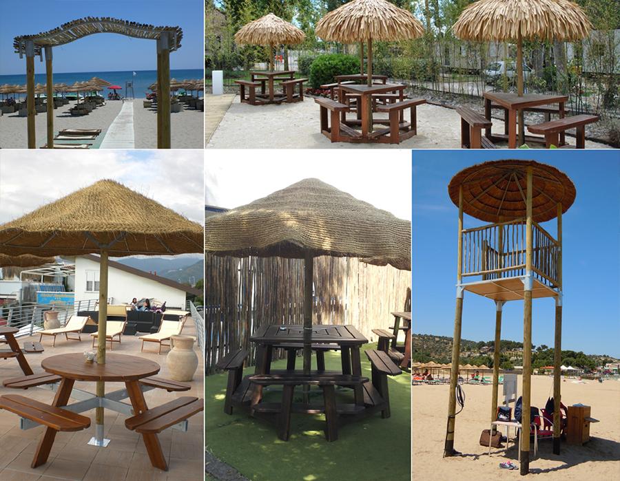 Composizioni esotiche spiaggia