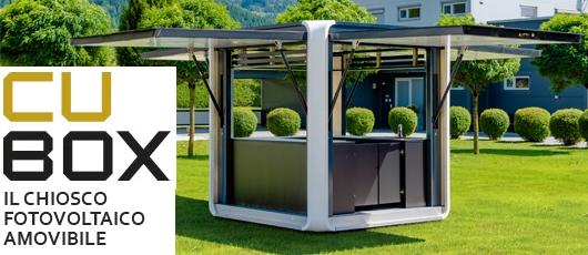 Cubox, il chiosco fotovoltaico
