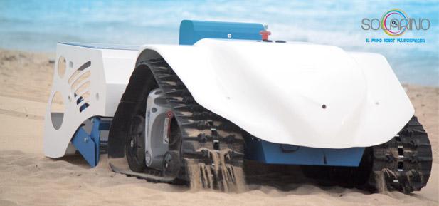 Solarino, il primo robot puliscispiaggia elettrico
