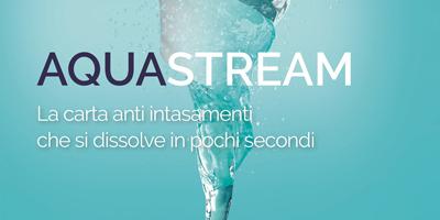 AquaStream, la carta anti intasamenti che si dissolve in pochi secondi