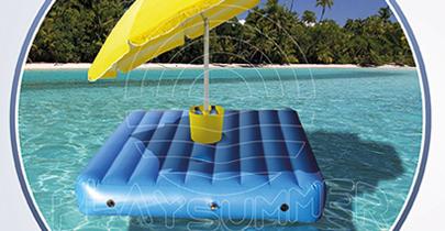 Il materasso galleggiante per un nuovo comfort sulla spiaggia