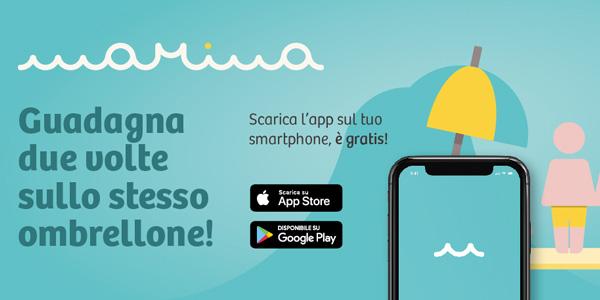 Marina porta lo sharing dell'ombrellone in tutta Italia